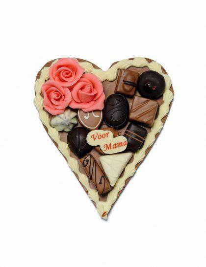 moederdag hart debontekoe chocolade